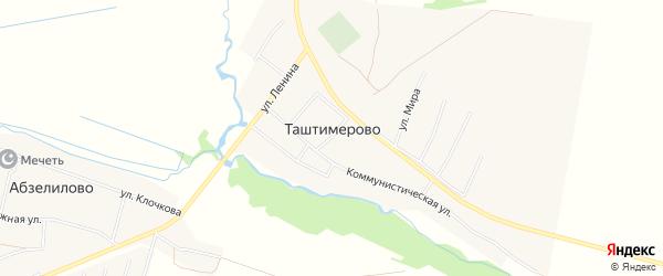 Карта деревни Таштимерово в Башкортостане с улицами и номерами домов