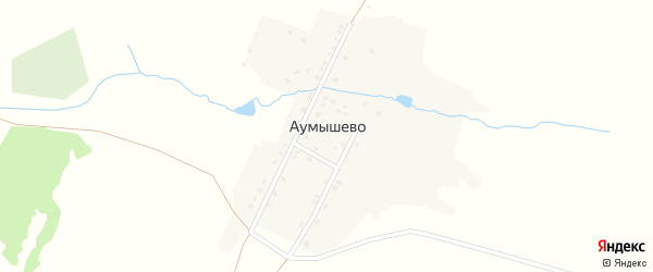 Горная улица на карте деревни Аумышево с номерами домов