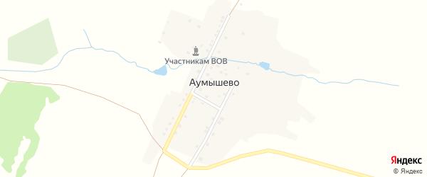 Улица Тагира Кусимова на карте деревни Аумышево с номерами домов