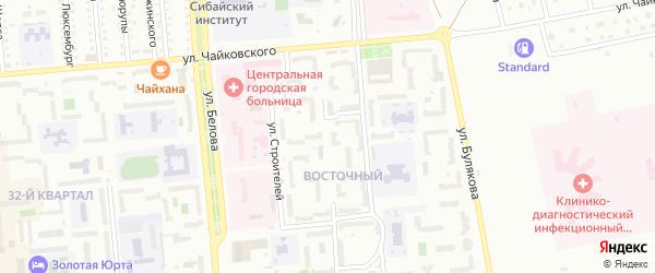 Улица Ветеранов на карте Сибая с номерами домов