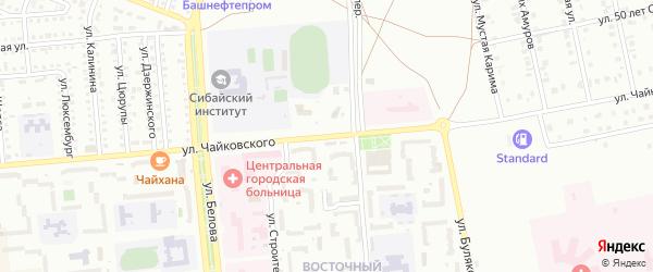 Улица Чайковского на карте Сибая с номерами домов