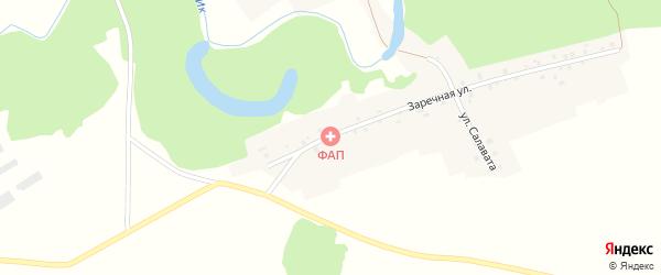 Школьная улица на карте села Абзаево с номерами домов