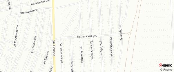 Кызылская улица на карте Сибая с номерами домов