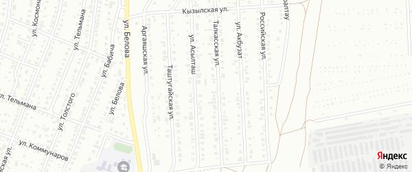 Улица Тараул на карте Сибая с номерами домов
