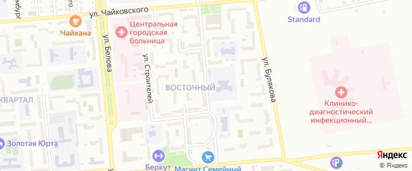 Интернациональный переулок на карте Сибая с номерами домов