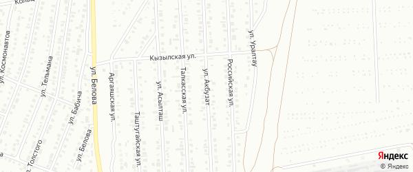 Улица Акбузат на карте Сибая с номерами домов