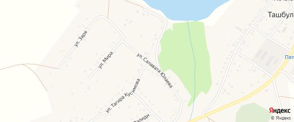 Улица Салавата Юлаева на карте села Ташбулатово с номерами домов