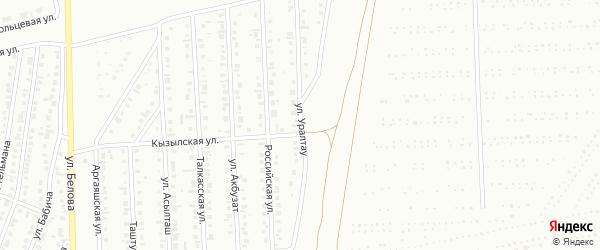 Улица Уралтау на карте Сибая с номерами домов