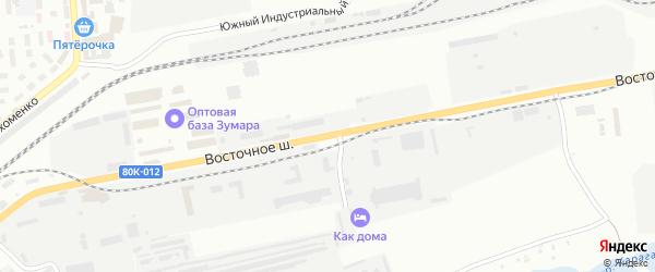 Восточное шоссе на карте Сибая с номерами домов