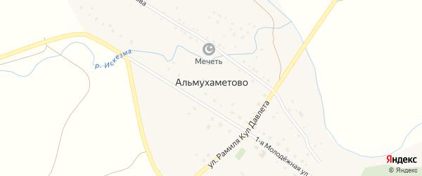 Улица Рамиля Кул Давлета на карте деревни Альмухаметово с номерами домов