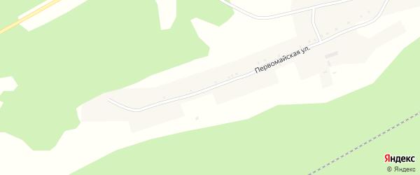 Первомайская улица на карте села Первомайского с номерами домов