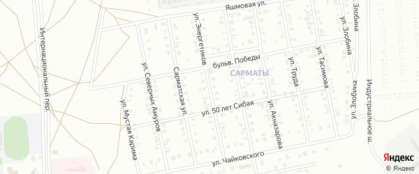 Улица Энергетиков на карте Сибая с номерами домов
