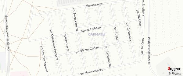 Юбилейная улица на карте Сибая с номерами домов