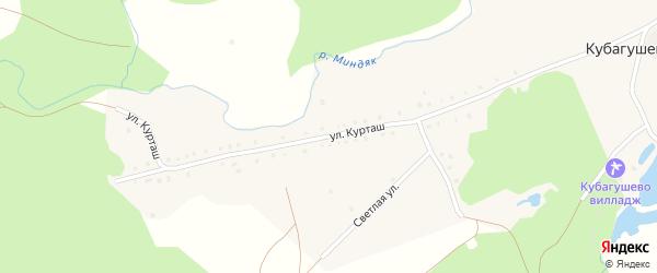 Улица Курташ на карте деревни Кубагушево с номерами домов