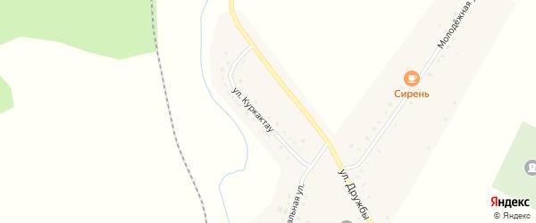 Улица Куркактау на карте деревни Муракаево с номерами домов