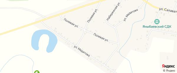 Полевая улица на карте села Яныбаево с номерами домов