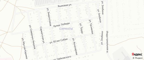 Улица Акназарова на карте Сибая с номерами домов