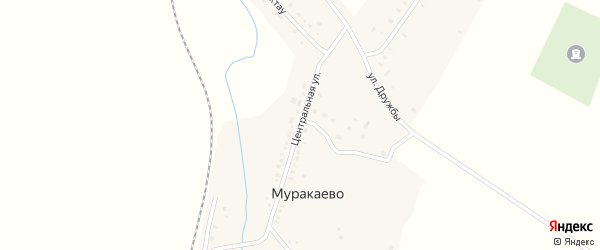 Центральная улица на карте деревни Муракаево с номерами домов