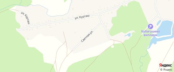 Светлая улица на карте деревни Кубагушево с номерами домов