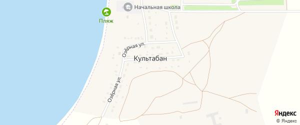 Садовая улица на карте деревни Культабана с номерами домов