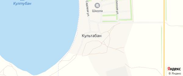 Карта деревни Культабана в Башкортостане с улицами и номерами домов