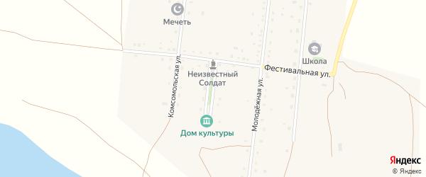 Школьная улица на карте деревни Атавды с номерами домов