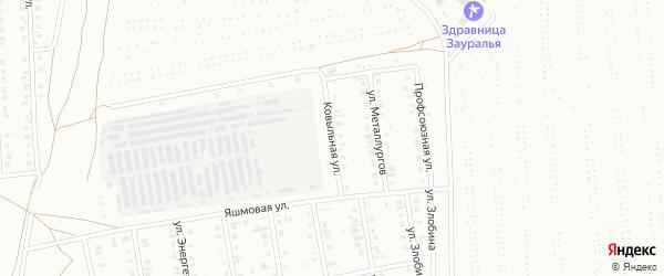 Ковыльная улица на карте Сибая с номерами домов