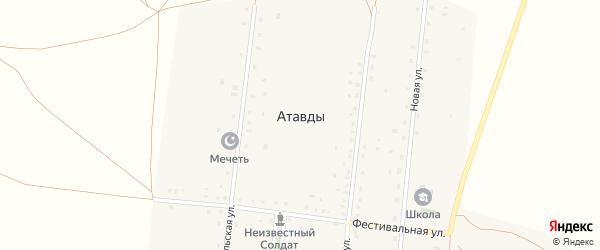 Улица Целинников на карте деревни Атавды с номерами домов