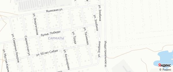 Улица Тасимова на карте Сибая с номерами домов