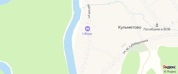 Айская улица на карте деревни Кульметово с номерами домов
