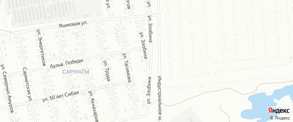 Улица Злобина на карте Сибая с номерами домов