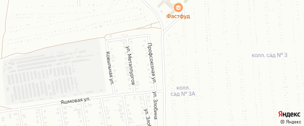 Профсоюзная улица на карте Сибая с номерами домов