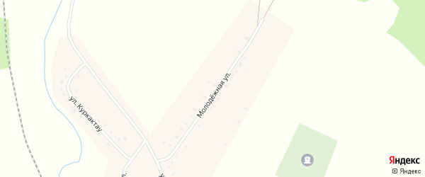Молодежная улица на карте деревни Муракаево с номерами домов