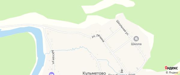 Улица Ленина на карте деревни Кульметово с номерами домов