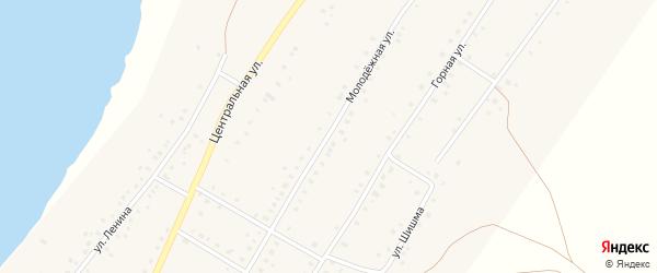 Молодежная улица на карте деревни Искаково с номерами домов