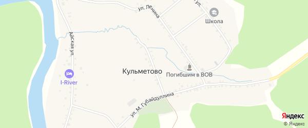 Родниковая улица на карте деревни Кульметово с номерами домов