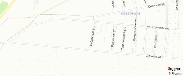 Рябиновая улица на карте Сибая с номерами домов