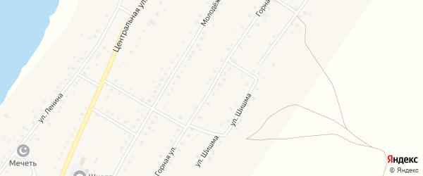 Горная улица на карте села Ташбулатово с номерами домов