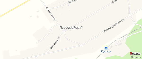Нагорная улица на карте села Первомайского с номерами домов
