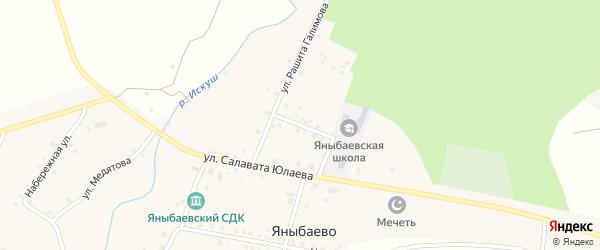 Школьная улица на карте села Яныбаево с номерами домов