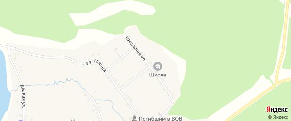 Школьная улица на карте деревни Кульметово с номерами домов