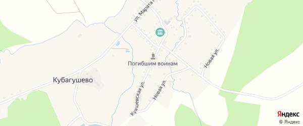 Куяшевская улица на карте деревни Кубагушево с номерами домов