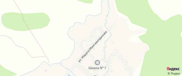 Миндякская улица на карте деревни Кубагушево с номерами домов