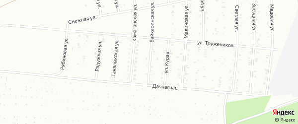 Байкаринская улица на карте Сибая с номерами домов