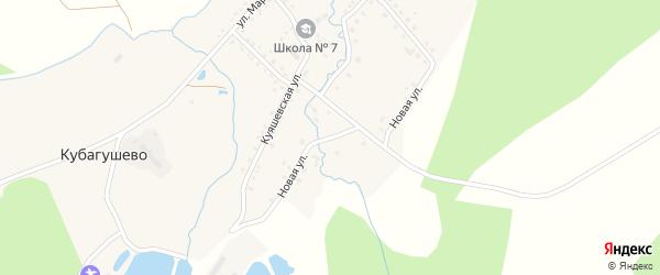 Новая улица на карте деревни Кубагушево с номерами домов