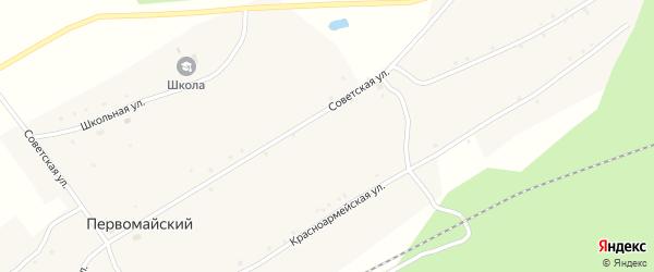 Советская улица на карте села Первомайского с номерами домов