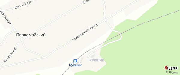 Красноармейская улица на карте села Первомайского с номерами домов