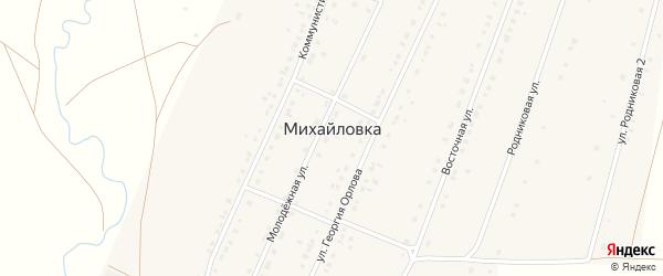 Родниковая 2-я улица на карте села Михайловки с номерами домов
