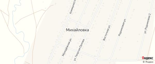 Магистральная улица на карте села Михайловки с номерами домов