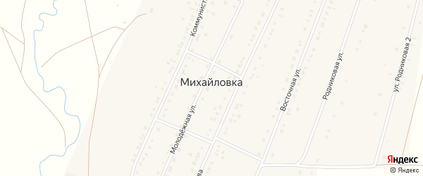 Улица Муртазы Рахимова на карте села Михайловки с номерами домов
